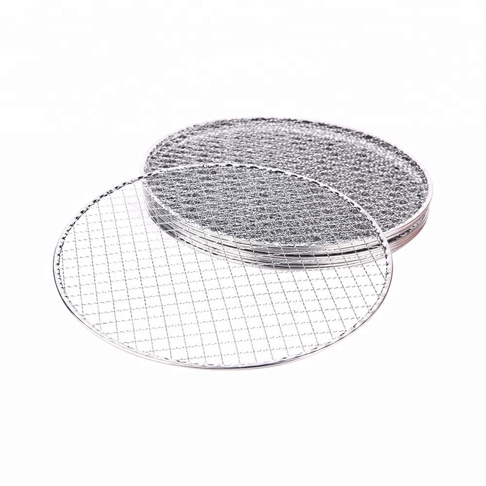 high quality and low price disposal bbq grill netting / wire mesh for electric grill