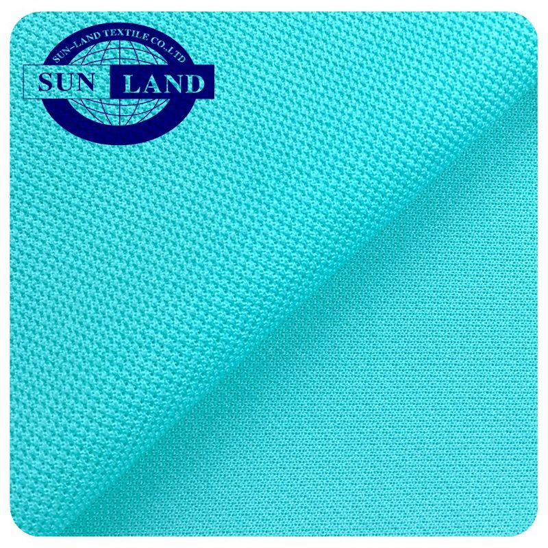100% Polyester dry fit fluorescent pique mesh fabric for sportswear