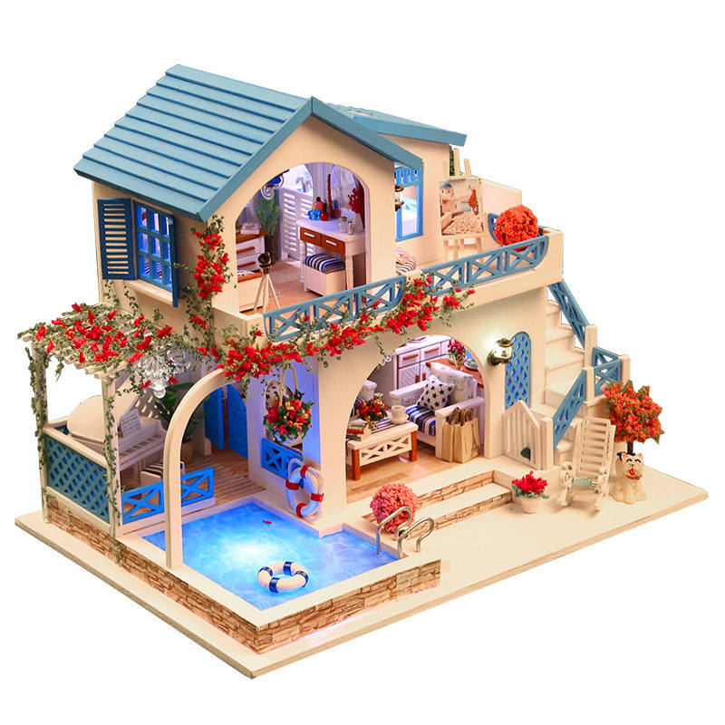 Birthday Gift for best friend wooden toys kids dollhouse diy miniatures 1:12