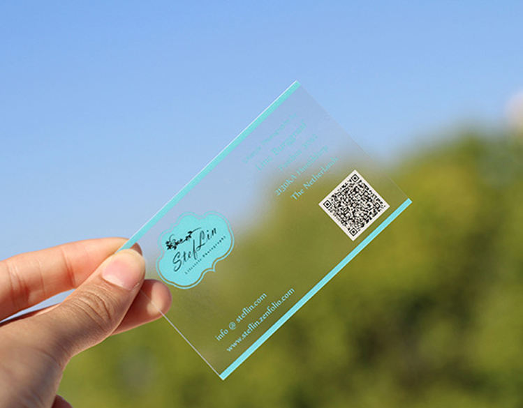 China golden supplier transparent PVC Business Card
