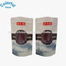Custom frozen food packaging with design stand up frozen soup bag