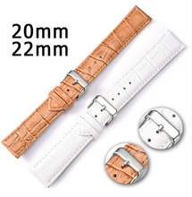 New Watch Band 20mm 22mm Leather Watch Parts Watch Straps Bracelet Strap for Man and Women Accessories Belts for Boys and Girls