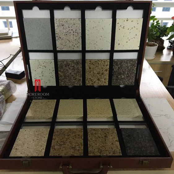 Foshan factory directly sale high quality artificial marble look quartz slab stone