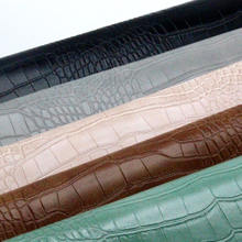 materials pu embossed synthetic white leather crocodile leatherette for bags