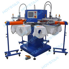 4 Color T Shirt Printing Machine Screen Printers