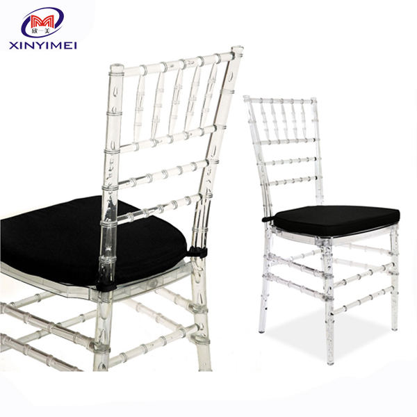Hot Sale Hotel Lobby Furniture Wedding Crystal Acrylic Chiavari Chair