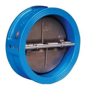 high quality ductile iron wafer check valve with double disc