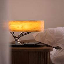 MESUN Hot sale! Led Wood bedside table lamp tree style