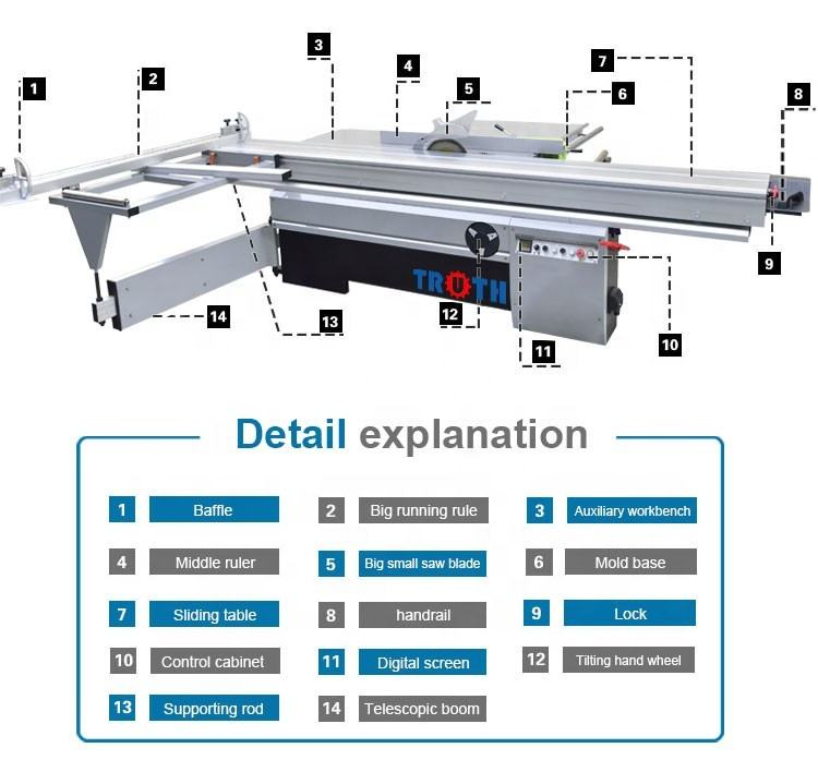MJ6132TY woodwork machine electric double blade 10 wood cutting precision table saw panel saw used digital sliding table saw
