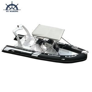 Hot Sale 19ft RIB 580 Rigid Inflatable Rubber Boat with Bimini