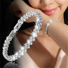Roman Style Chain Bracelets Girls Fashion Jewelry Zircon crystal bracelet