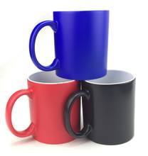 Great gift 11oz magic photo changing sublimation color changing mug with hot water magic mugs for sublimation