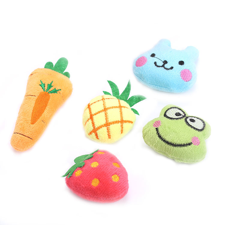 cute plush cat toy built-in catnip pet supplies wholesale in stock fast delivery cat toy