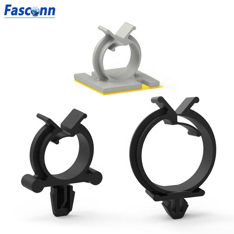 Nylon Round Cable Wire Saddle / Clip With Push Mount Wiring Retainer / Organizer,Core Clip ,Round Cable Holders ,clamp