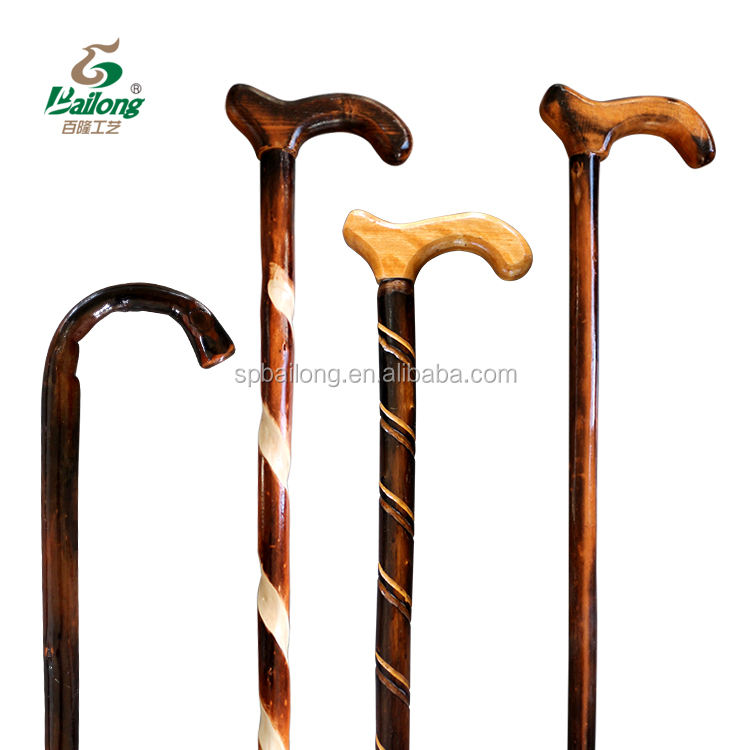 15 years professional factory varnished natural wooden walking stick
