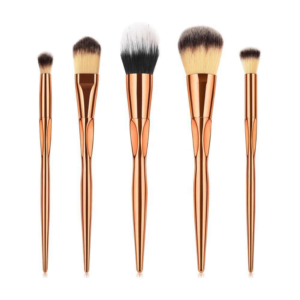 Customize 5 pc face powder foundation 버핑 brush 굿 거대한 메이 컵 brush sets kit 와 private label
