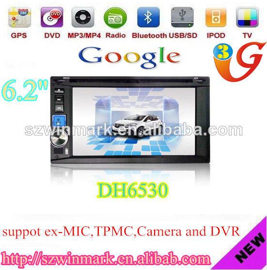DH6530 6.2'' 2DIN multimédia de <span class=keywords><strong>voiture</strong></span> avec GPS, BT, RDS, TMC, DVR, radio, A-TV, DVB-T, <span class=keywords><strong>ATSC</strong></span>, ISDB, 3G, PIP, etc