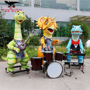 Animatronic cartoon dinosaurus band voor dinosaurus park