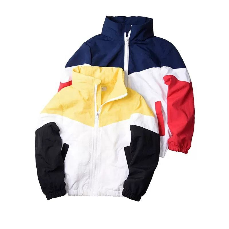 Wholesale Custom Mesh Sports Zipper Public Light Coats With Hood For kids Boy Spring Jacket