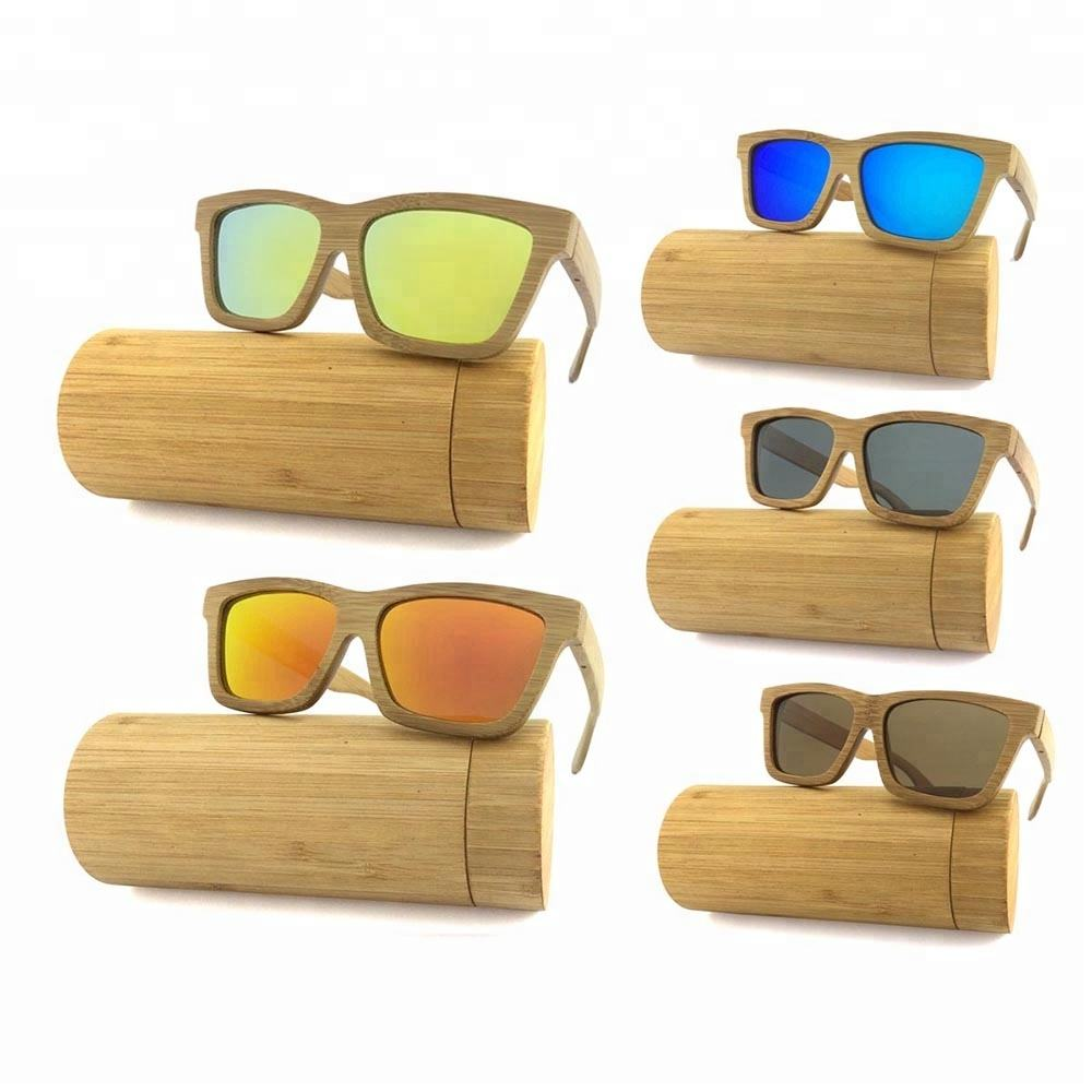 High Quality Wholesale Mirror Lens China Wood Bamboo Sunglasses Custom Logo Cat.3 Polarized 2020 Wooden Sunglasses