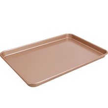 "15"" nonstick champagne gold carbon steel cookie sheet baking pan"