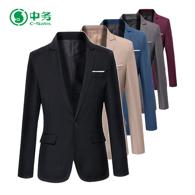 Custom Brand Fashion One Button Multi Colors Casual Blazer for Men