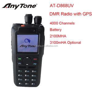 Terbaru Anytone AT-D868UV Digital Ganda Band Walkie Talkie dengan GPS