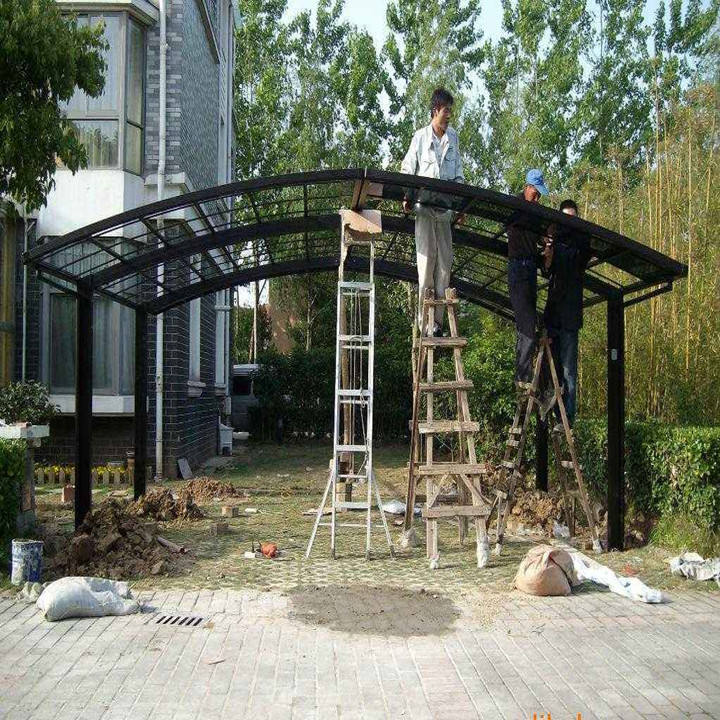 China Supplier polycarbonate roofing Aluminum Steel carport canopy