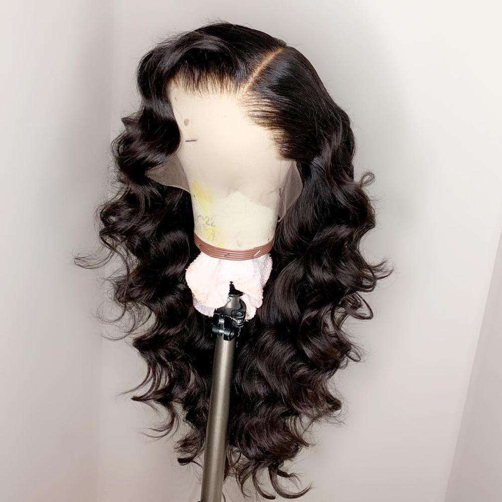 Charming Big Body Wave Grade 10A Human Virgin Hair Bleached Knots Full Lace Wig With Natural Hairline