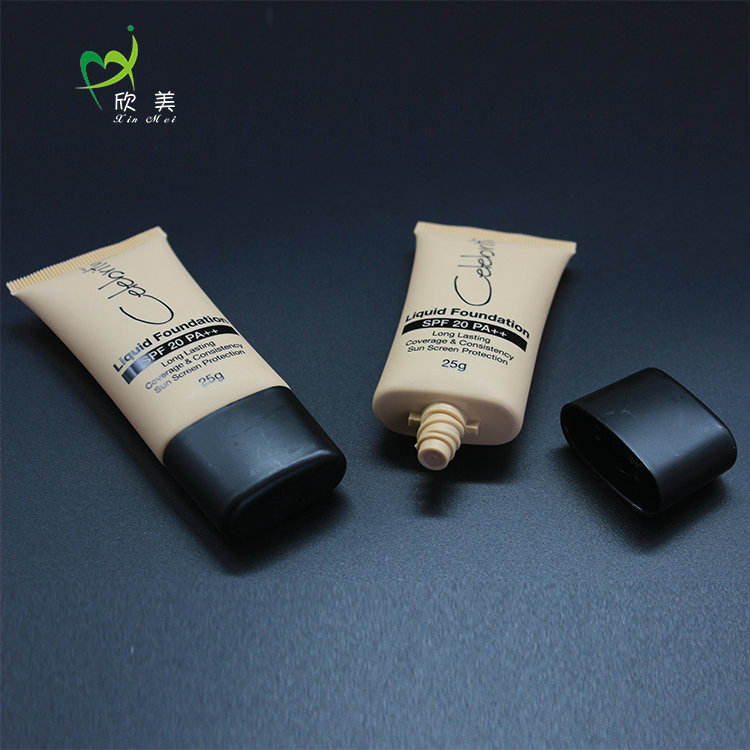 OEM BPA Free Soft 30mm Flat Screw On Cap Packing Empty Custom Plastic Cosmetic Tube
