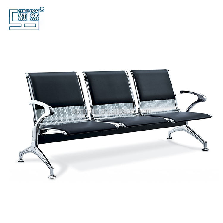 2020 New Model Stainless Steel 3 Seater Waiting Airport Chair