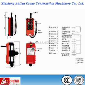Industry widely durable remote control switch crane wireless remote control