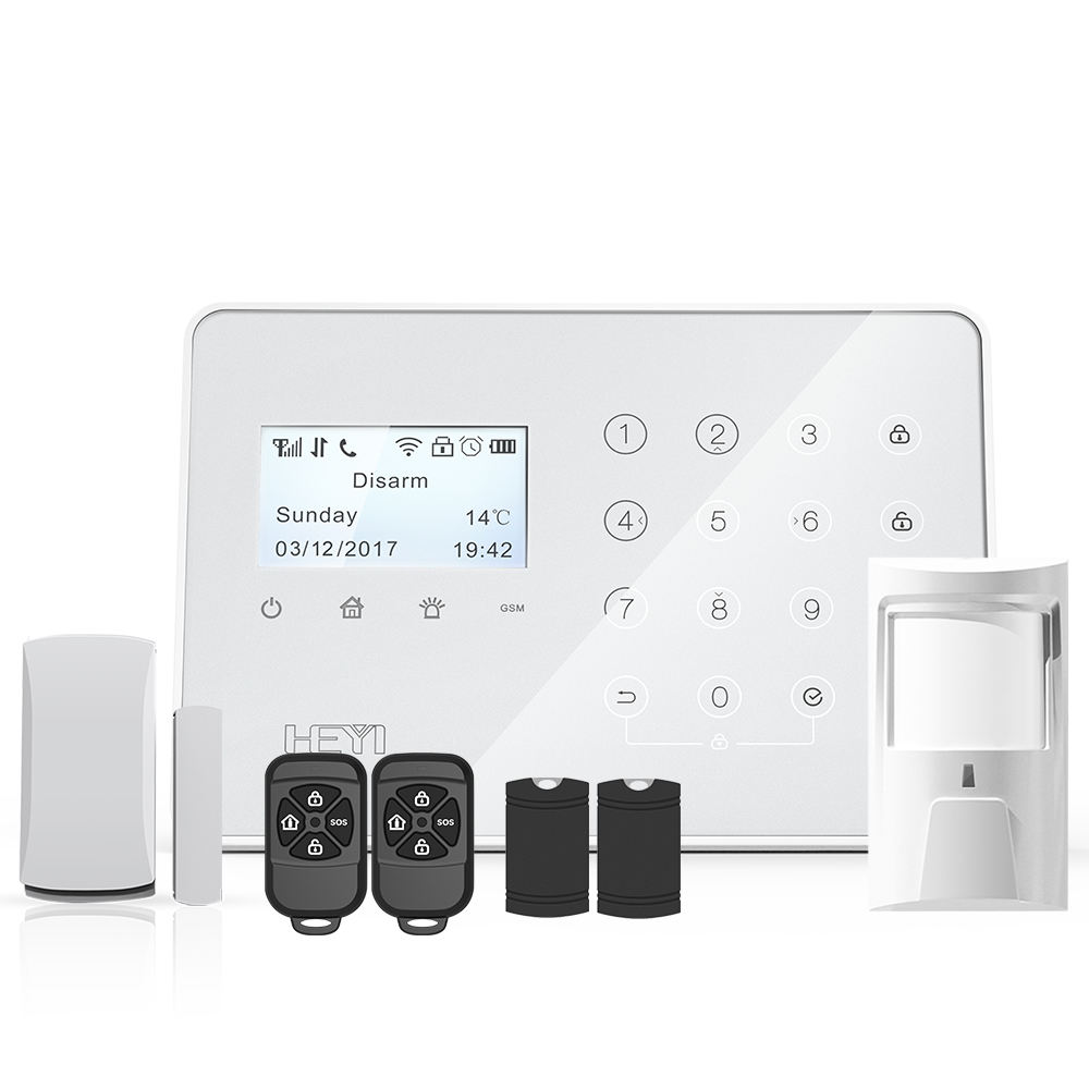 WIFI/GSM alarm system mit RFID tastatur Android/IOS App control wireless home security system