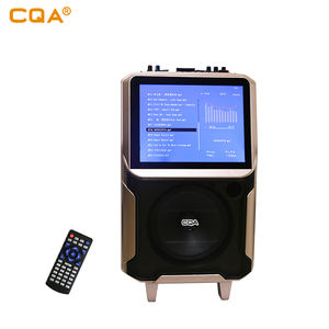 Karaoke wireless bt lautsprecher mit 12,1 inch lcd video multifunktions trolley lautsprecher