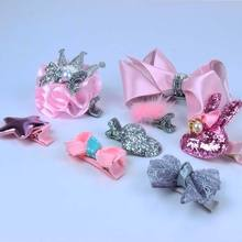 Amazon hot sale New Fashion Girls Hair Accessories Kids Bow Hair Clips Accessory Set