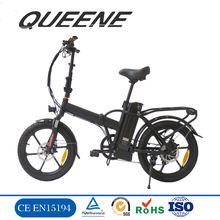 "QUEENE/Best selling Folding Electric Bicycle with Lithium battery 3.0"" electric bike"
