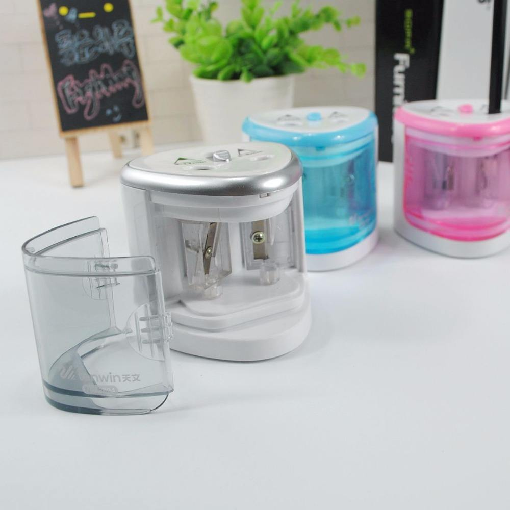 New design electric double hole pencil sharpener automatic pencil sharpener