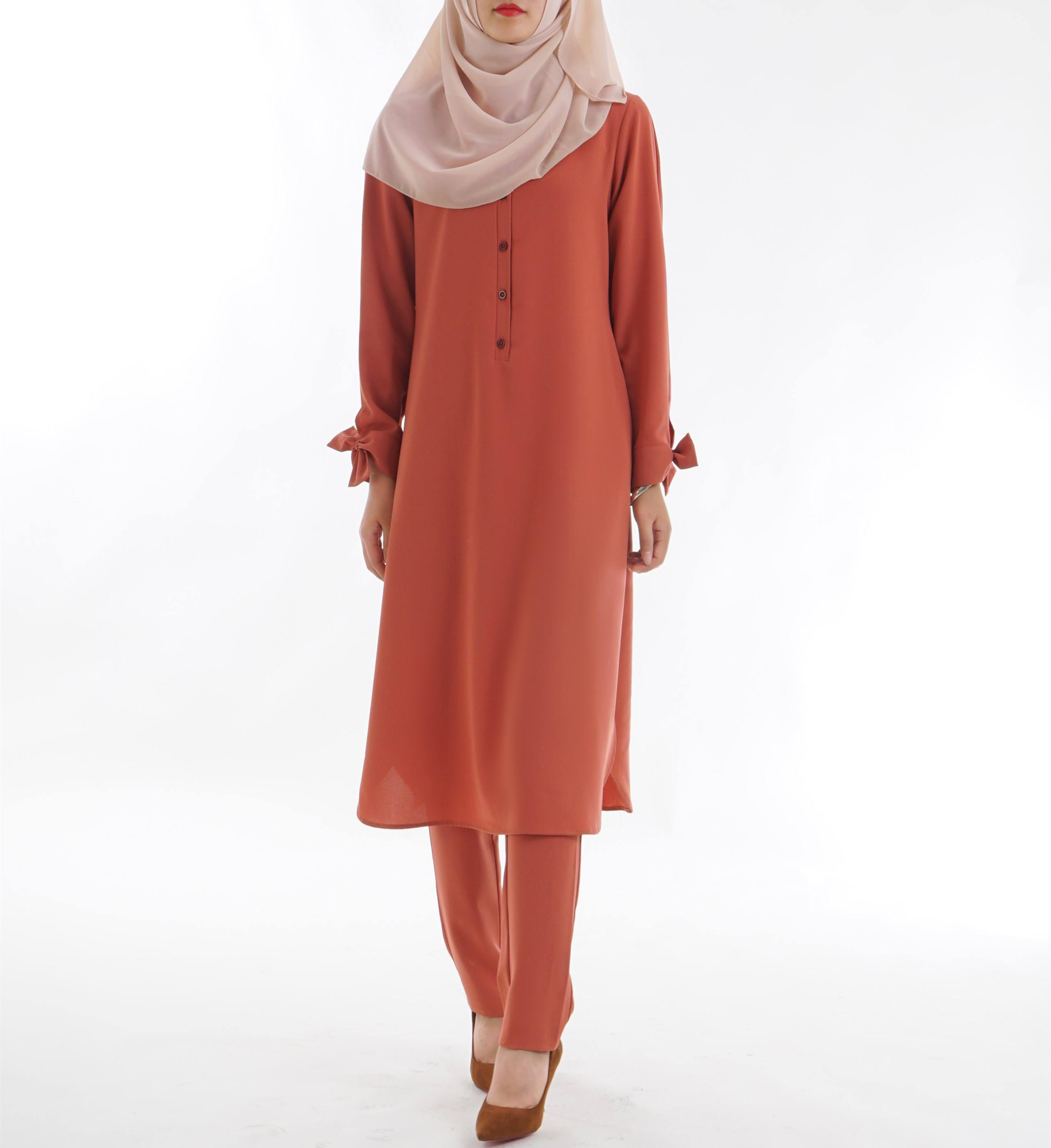 modern style women blouse suit baju kurung muslimah top for casual clothing