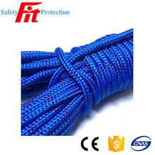 Trade Assurance black braided polyester rope 6mm for sale