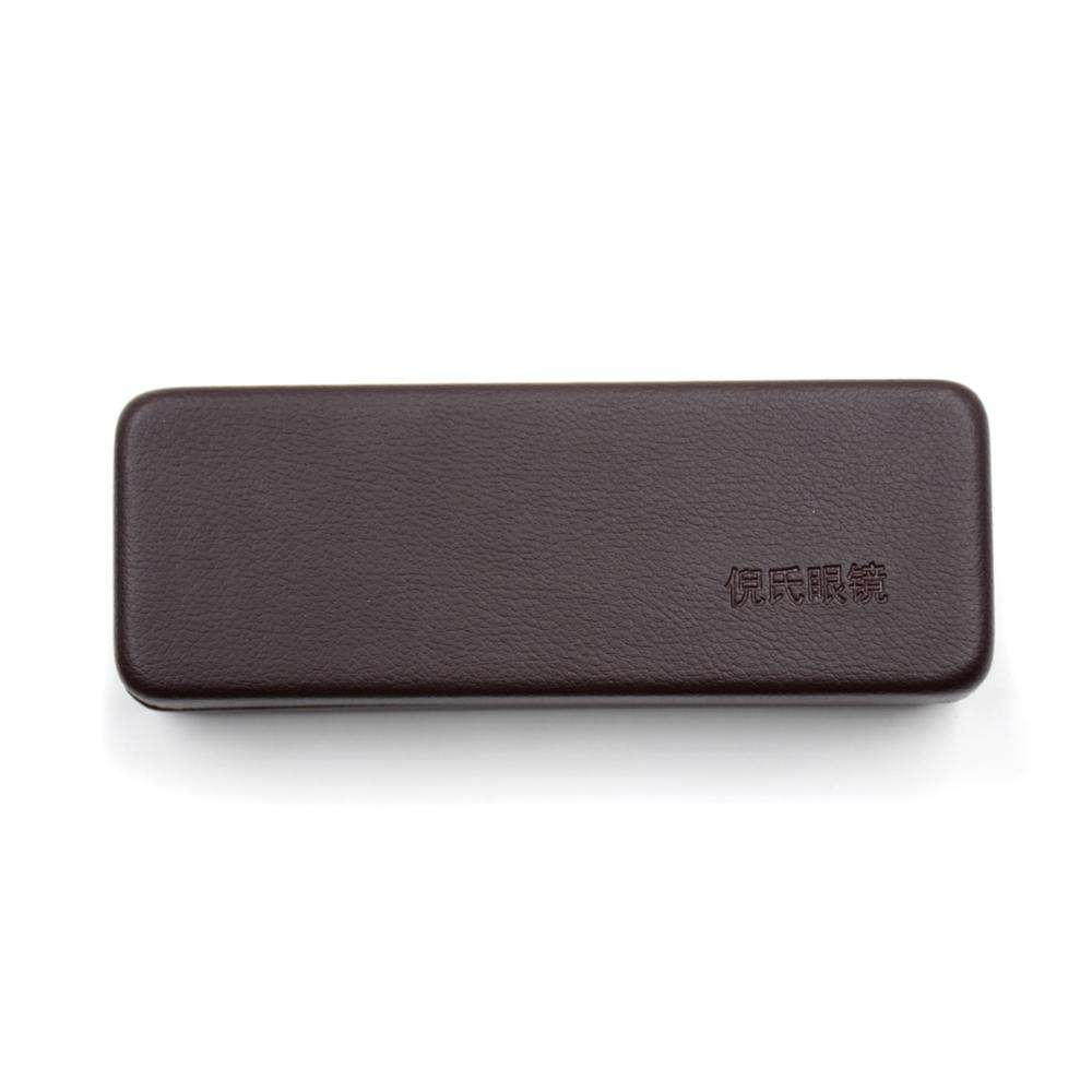 Custom logo hard metal Optical reading eye glasses case with spectacle hinge