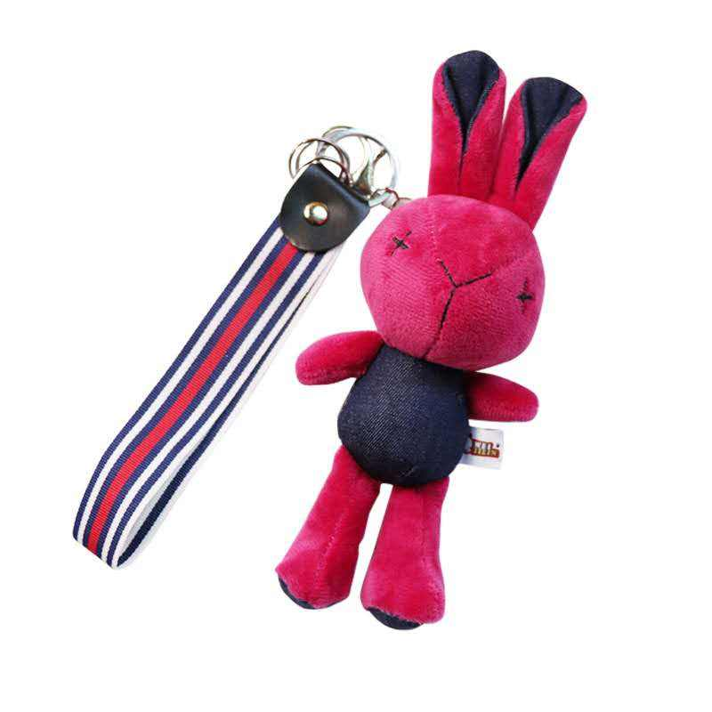 Mobile phone accessory Ornament Soft cute Mini Doll Stuffed Charm keyring