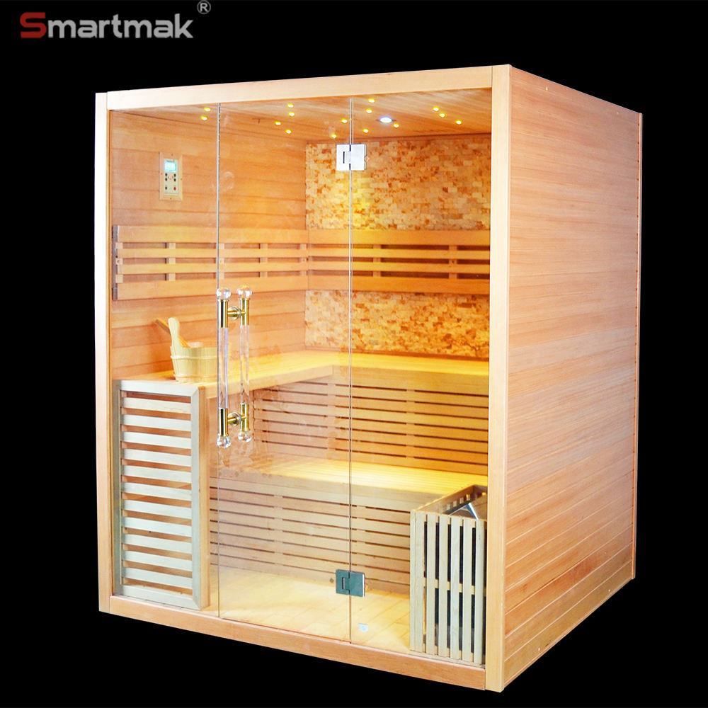 Finnish Cedar steam sauna for home with sauna kits