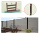 wood plastic fence wpc fencing China Outdoor WPC Solid fencing