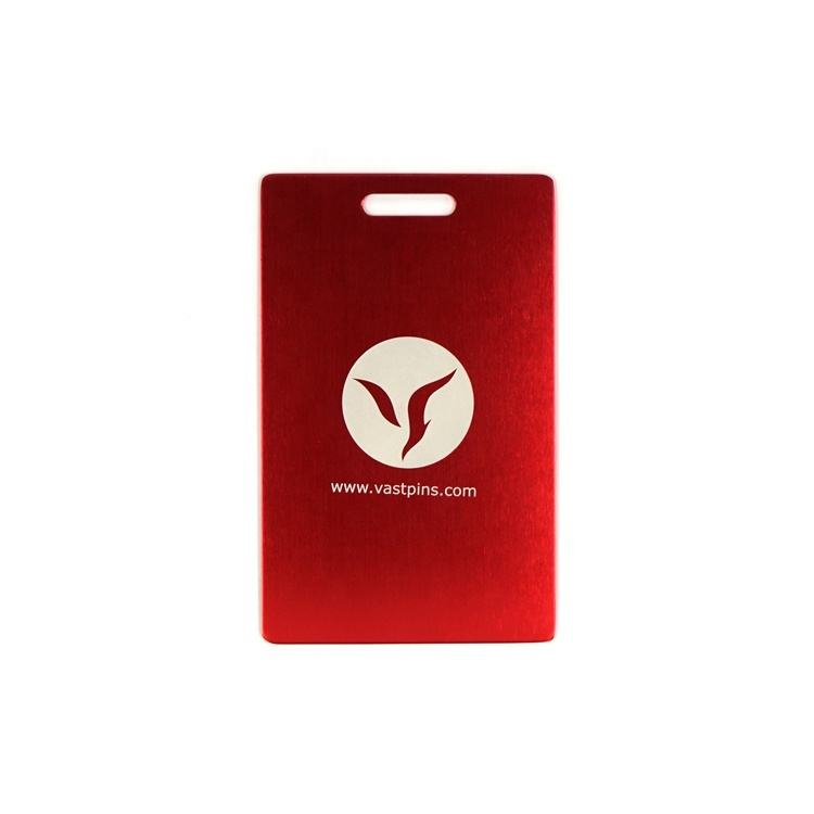 Customized Colorful Airport Logo Aluminum Metal Luggage Tag