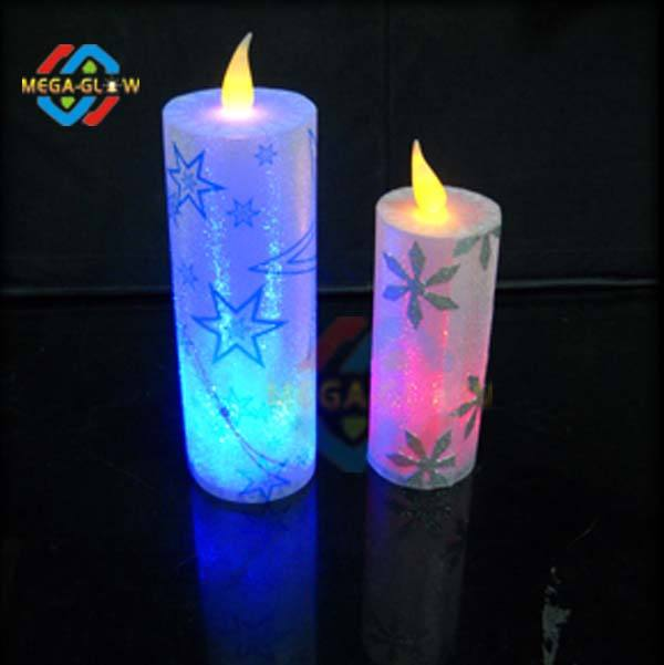 Amazing PVC Decorative Customized Christmas Led Candles