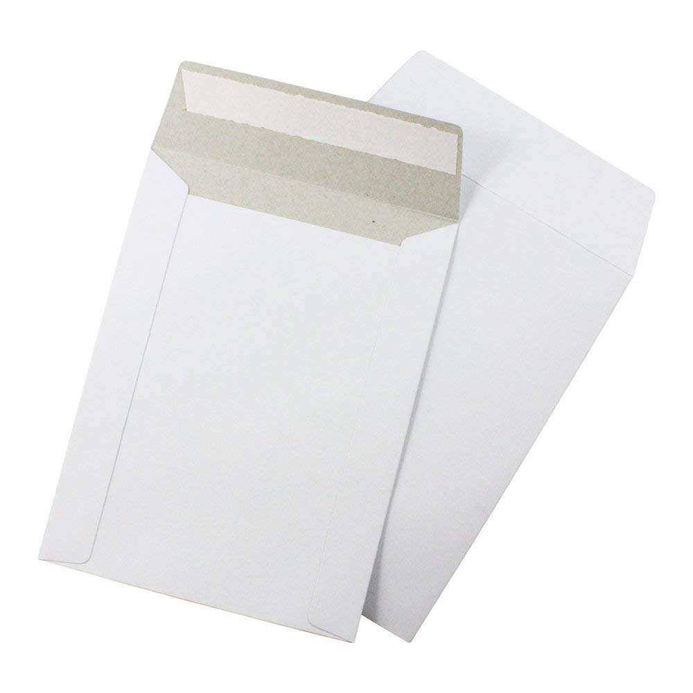 C5 DL B5 A3 Stiff Cardboard Custom Printed Cardboard Mailer Envelopes For Product Packaging With Peel Strip Recycled Envelopes