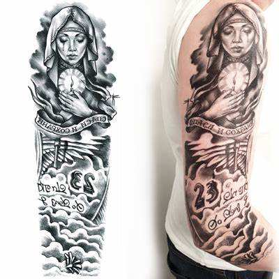 Long lasting temporary tattoo arm sleeve tattoo