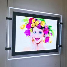 A2 A3 A4 illuminated Advertising Duratrans Light Box Wall mounted display Acrylic LED Frame