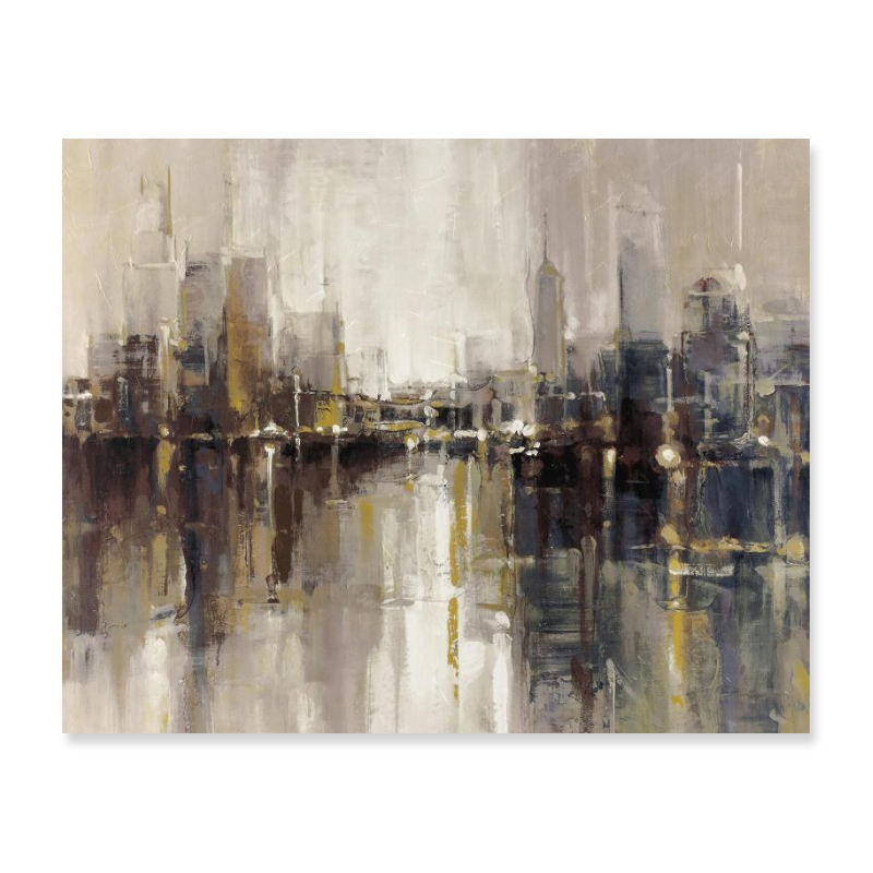 High Quality SGS USA Abstract Urban Landscape Canvas Oil Paintings For Artwork