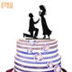new product ideas 2018 Mr Mrs Wedding Cake Topper Black Acrylic Bride Groom Cake Toppers for Wedding Decoration